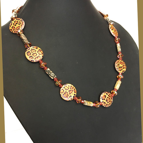 Leopard in Motion - fashion necklace