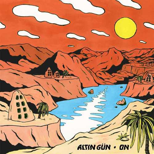 ALTIN GUN - On LP Turqoise & White Swirl