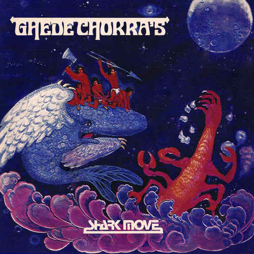 SHARK MOVE - Ghede Chokras LP Blue with White Splatter vinyl