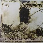 NIGHTMARE - Give Notice Of Nightmare LP Green Vinyl