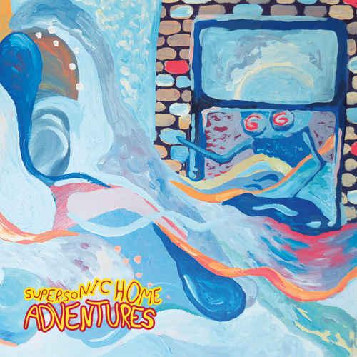 ADVENTURES - Supersonic Home LP Yellow with Blue Swirl Vinyl