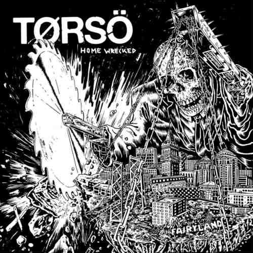 """TORSO - Home Wrecked 7"""" (Black White Splatter)"""