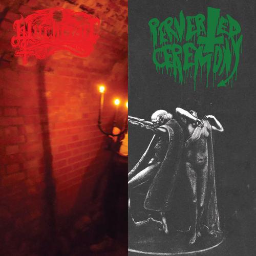 PERVERTED CEREMONY  WITCHCRAFT - Nighermancie  Black Candle Invoker Split LP
