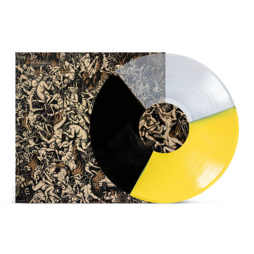 GREET DEATH - New Hell LP Light Yellow  Clear  Black Mix Vinyl