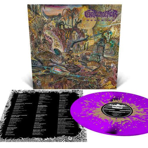 GATECREEPER - Deserted LP Neon Violet with Metallic Gold Splatter Vinyl