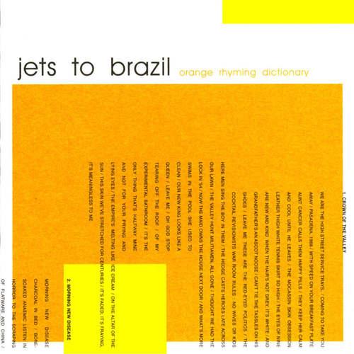 JETS TO BRAZIL -  Orange Rhyming Dictionary 2xLP 180gram Vinyl
