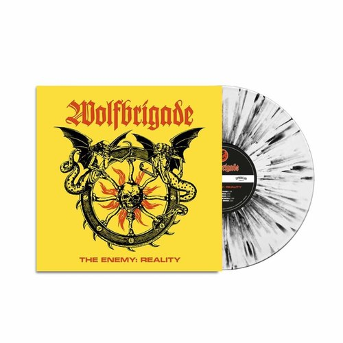 WOLFBRIGADE - The Enemy Reality LP White Black Splatter vinyl