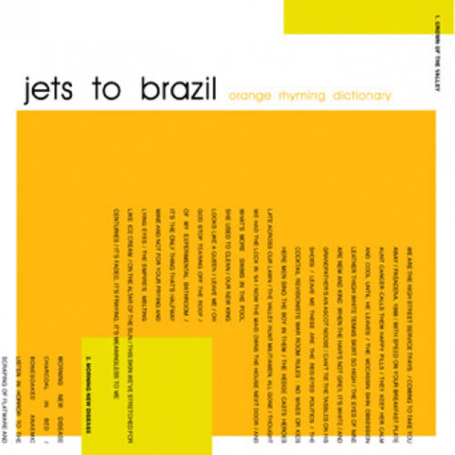 JETS TO BRAZIL - Orange Rhyming Dictionary 2xLP