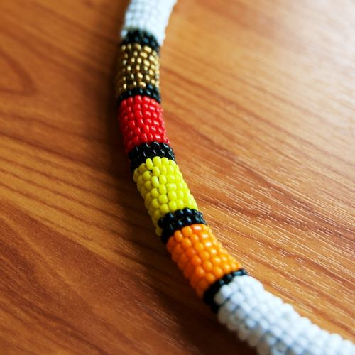 White and Multicolour Colour Necklace