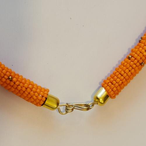 Orange Beaded Maasai Authentic Bracelet