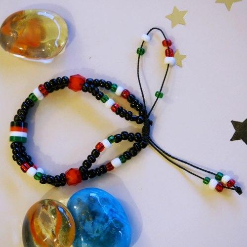 Black Maasai Beaded Bracelet