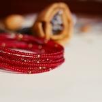 Red Spiral bangle