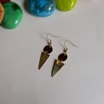 Trinangle shaped Brass Earring