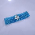 Blue and White Colour Maasai Beaded Bracelet