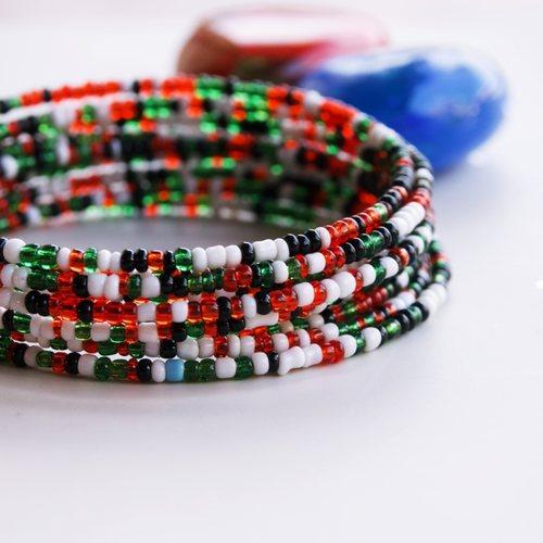 Kenyan Flag Theme Coloured Bangle
