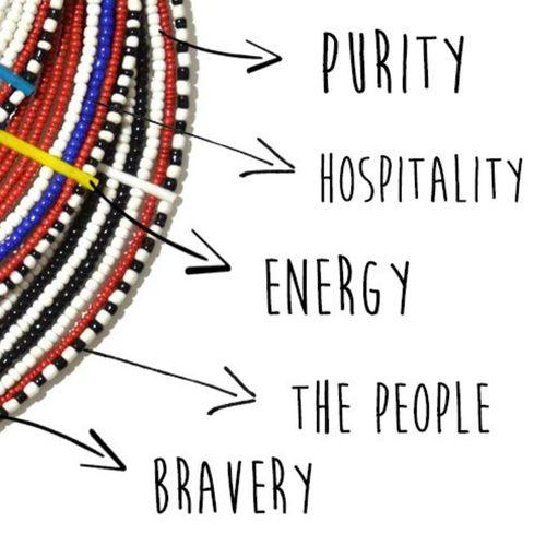 Unique hand beaded Maasai home decor made with animal skin masai beads.