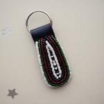 Kenya Flag  Theme Maasai Beaded Key Chain