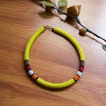 Yellow  Beaded Necklace