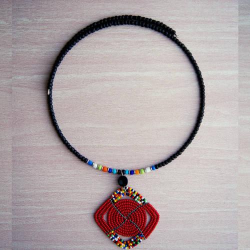 Handmade Massai Beaded Necklace