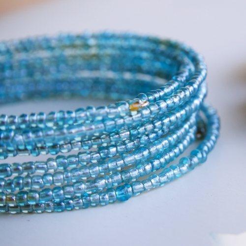 Blue Tribal Beaded Maasai Bracelet