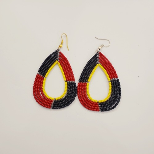 Black and Red Maasai Earring
