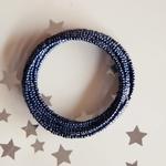 Black Spiral Bangle