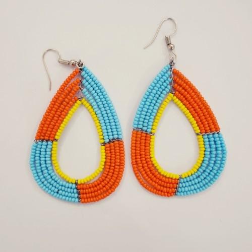 African Maasai Masai beaded jewelry Tribal Maasai earring