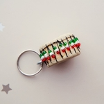 African Beaded keychain