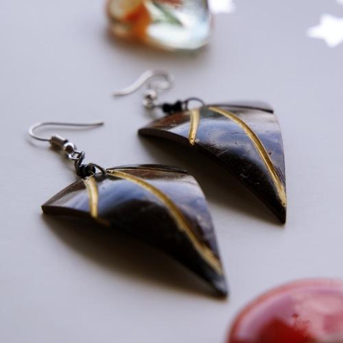 Coconut Shell Fashion Earrings