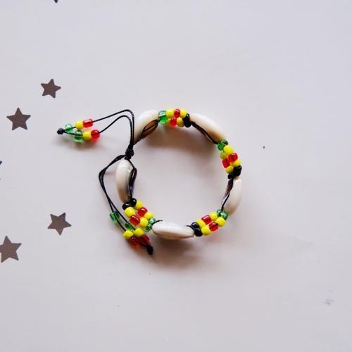 Shell and Beads Masai bracelet