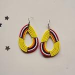 yellow and Multicoloured Maasai Beaded earring