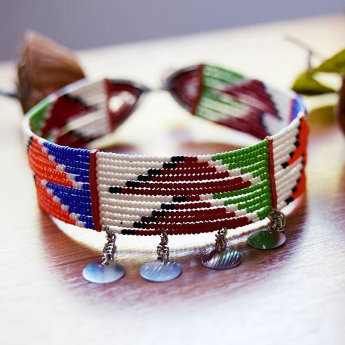 African Maasai tribal Choker necklace African beaded choker jewellery