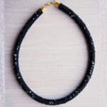 Black Beaded Maasai Necklace