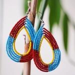 Maasai Hoop Earring .