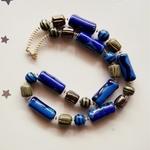 Kazuri Necklace Blue colour