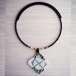 Elegant White Pendant African Maasai Beaded Necklace