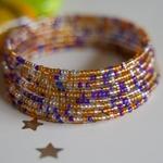 Masaai Spiral multicoloured Bangle