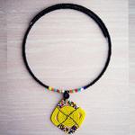 Yellow and Multicoloured Handmade Massai Beaded Necklace