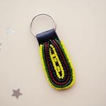African Maasai Beaded Keychain