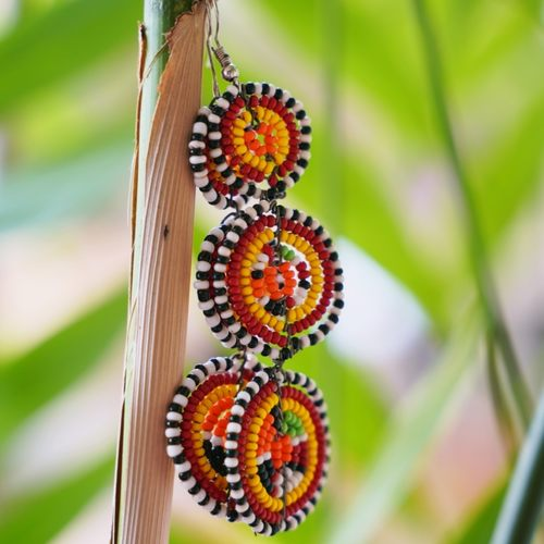 Authentic Maasai Beaded Earring.