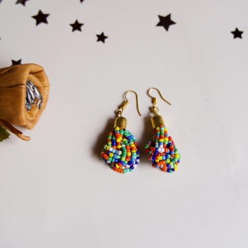 Multicolour Beaded earring
