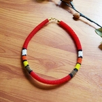 Red and Multicolour Colour Necklace
