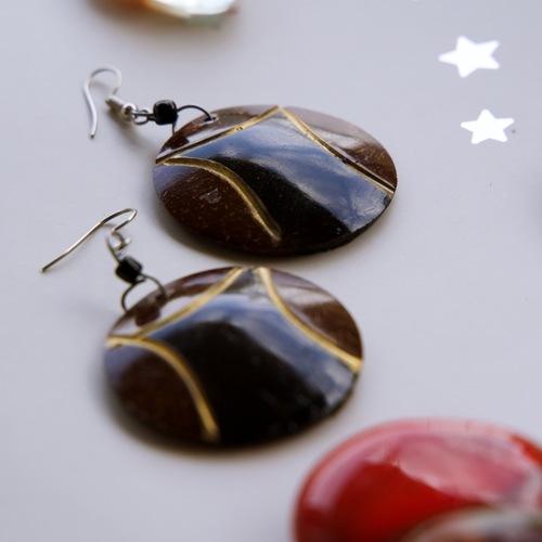 Coconut Shell Earrings