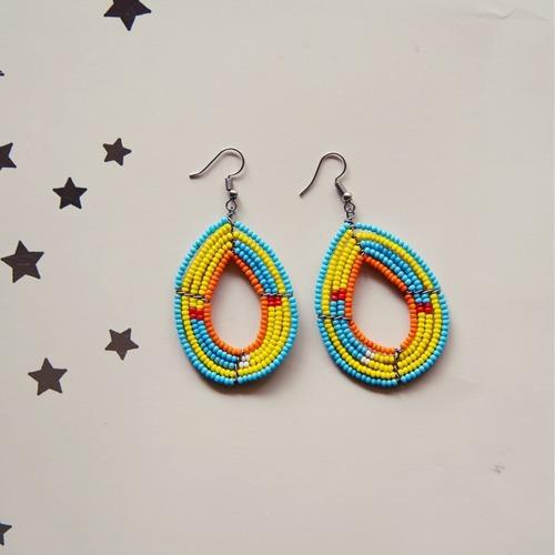 African EthnicTribal Masai Bead Earring