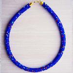 Blue Beaded Maasai Necklace