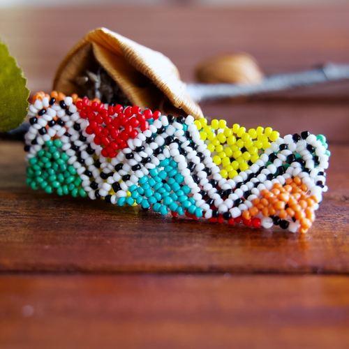 Masai Beaded Zulu Elastic Bracelet