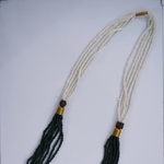 Black and white Multistrand Masaai Necklace