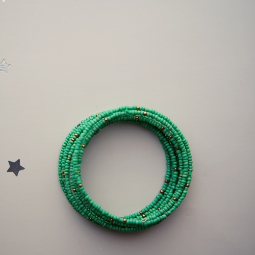 Maasai Beaded Coil Bracelet