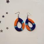 Orange and Blue Earring