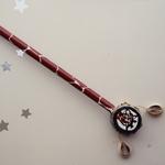 Giraffe  Painted Small Maasai Bead Kenyan Spin Drum Pencil